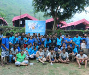Corporate Group at Camp