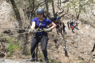 Rappelling at Rishikesh
